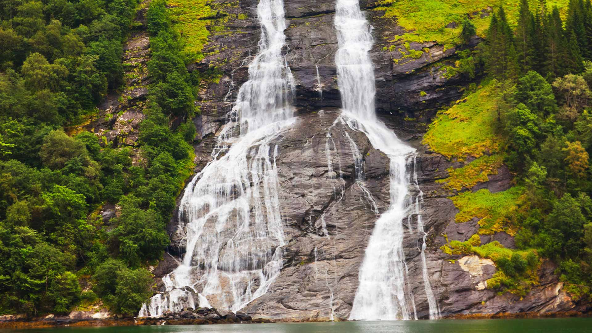 Geirangerfjord waterfall in Norway