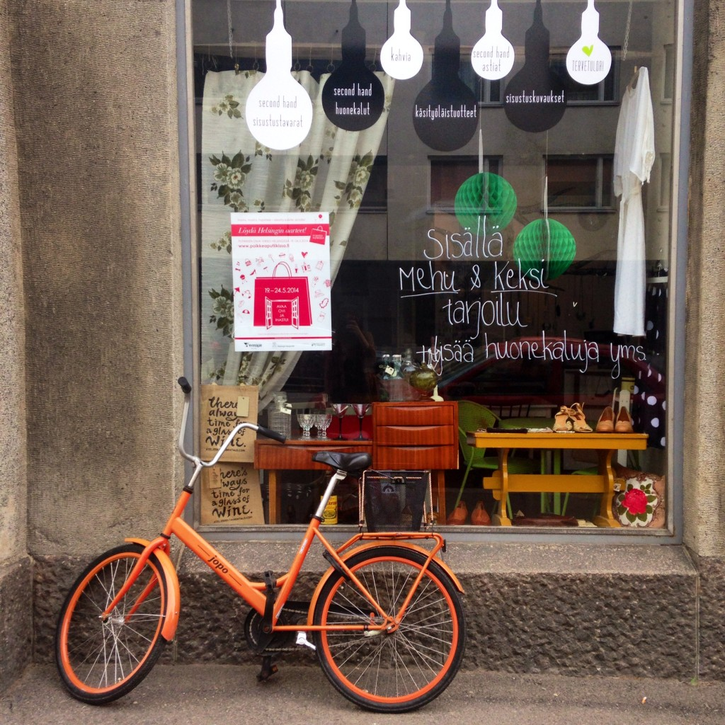 A cute design boutique and cafe in the Kallio neighbourhood.