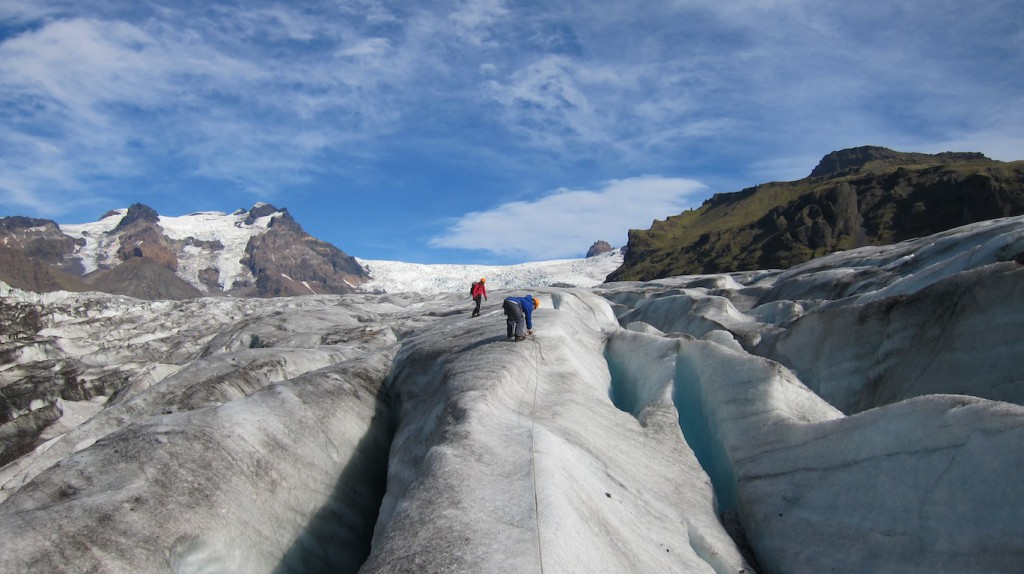 Guided hike on Sólheimajökull glacier in South Iceland