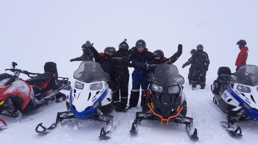 There's no bad weather, only bad clothing! While it's your responsibility to wear warm (ideally woolen or synthetic) layers underneath, the day tour operators do provide extra layers and safety gear. In this case: helmet, snowsuit, mitts and other small specialty items.