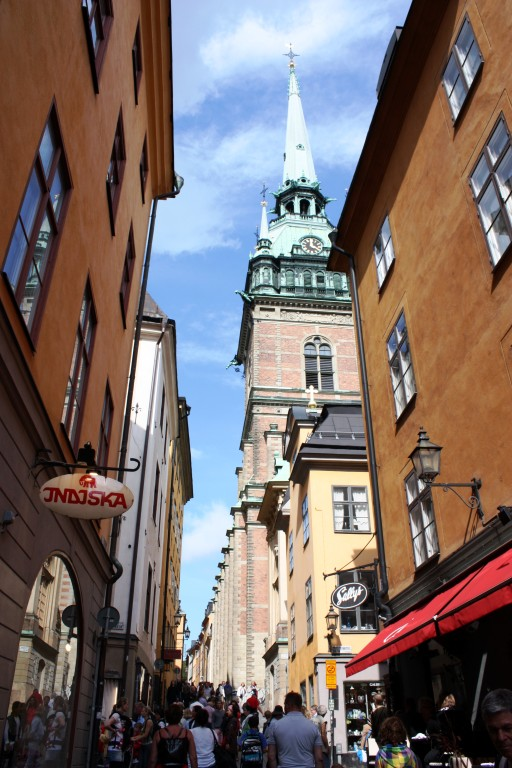 The cosy and colourful streets of Gamla Stan are a must-see in Stockholm.