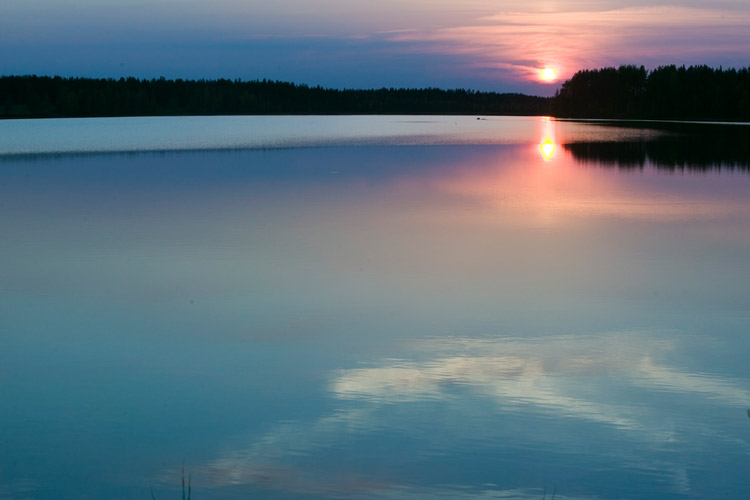 Swedish Lapland Midnight Sun