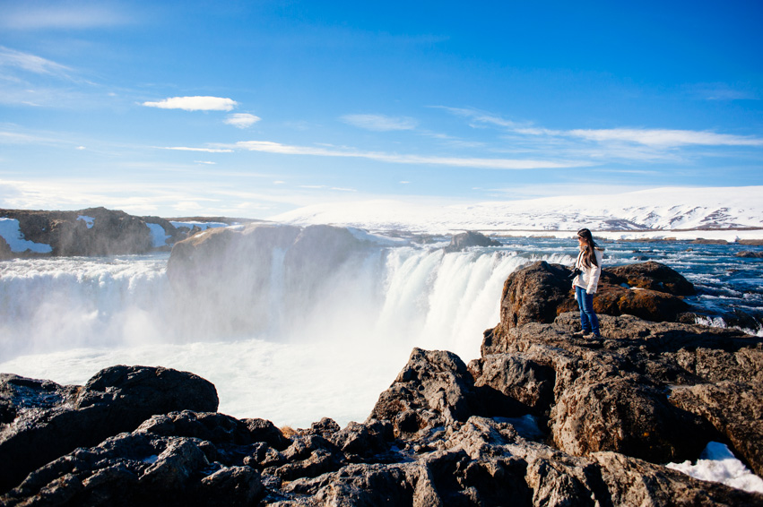 The beautiful Goðafoss, in Northern Iceland