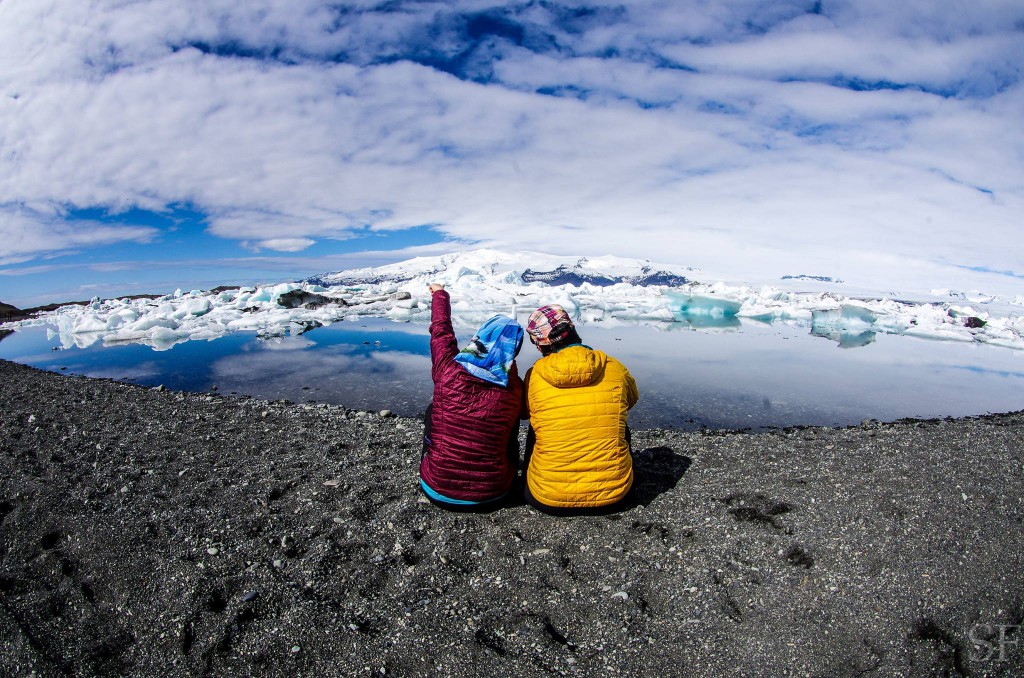 Peaceful moment at the glacier lagoon