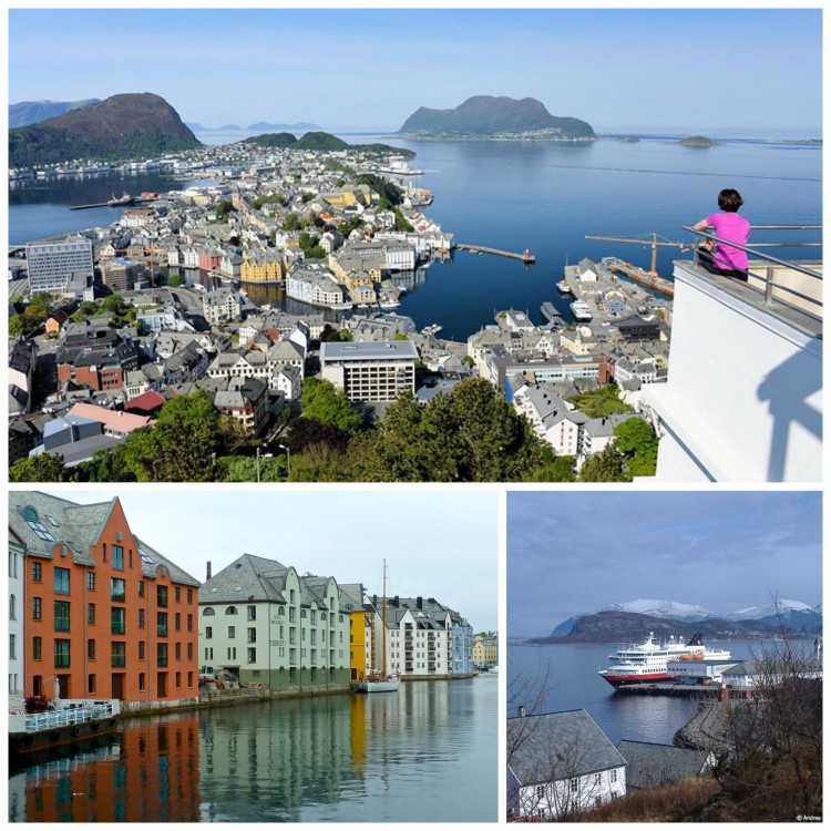The art nouveau city of Alesund is gorgeous from sea, land, and from above!