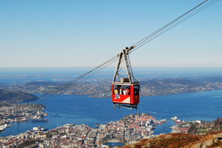 The cable car to the top of Ulriken mountain will being you to a wealth of great hiking trails.