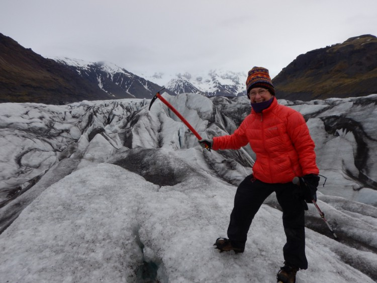 glacier walk at Skaftafell