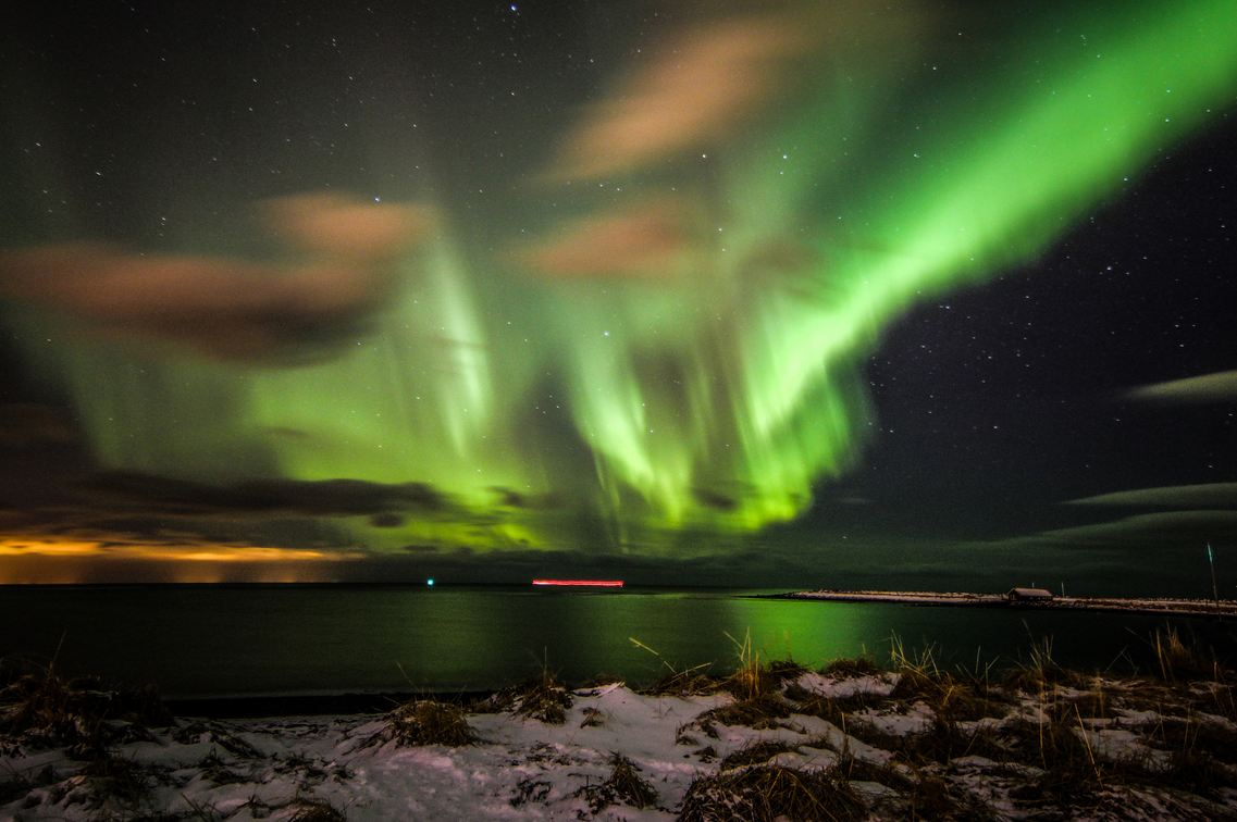 An Incredible Aurora Display In Reykjavik In December 2014. (Photo By Dagur  Jónsson)