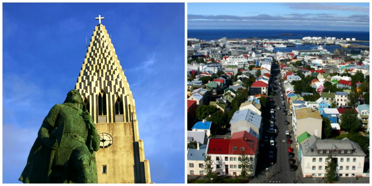 The iconic Hallgrímskirkja sita atop Reykjavík's tallest point, Skólavörðuholt. It's a sight to see in and of itself, but also offers an unbeatable viewpoint over the entire city.