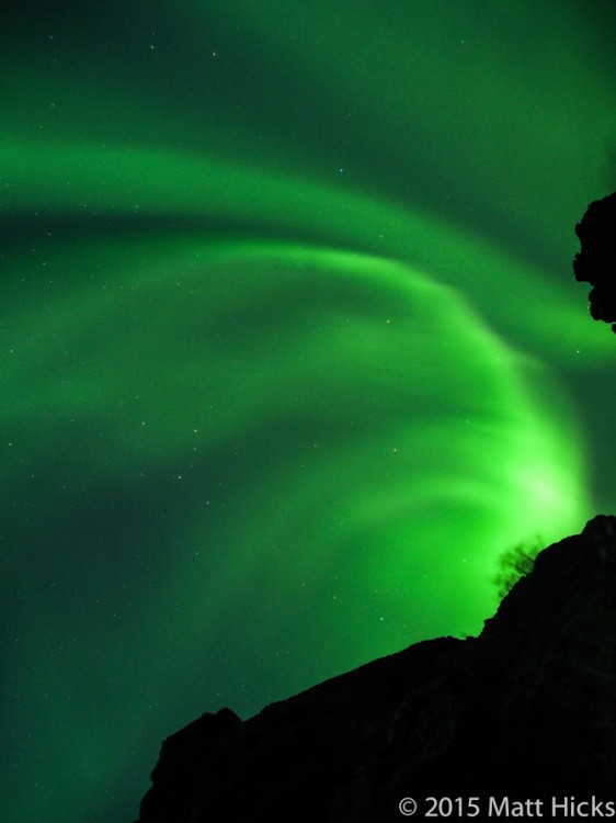 Nordic Visitor traveller Matt Hicks captured these stunning aurora during his Iceland Full Circle tour in September 2015 -- early in the season for such an impressive display!