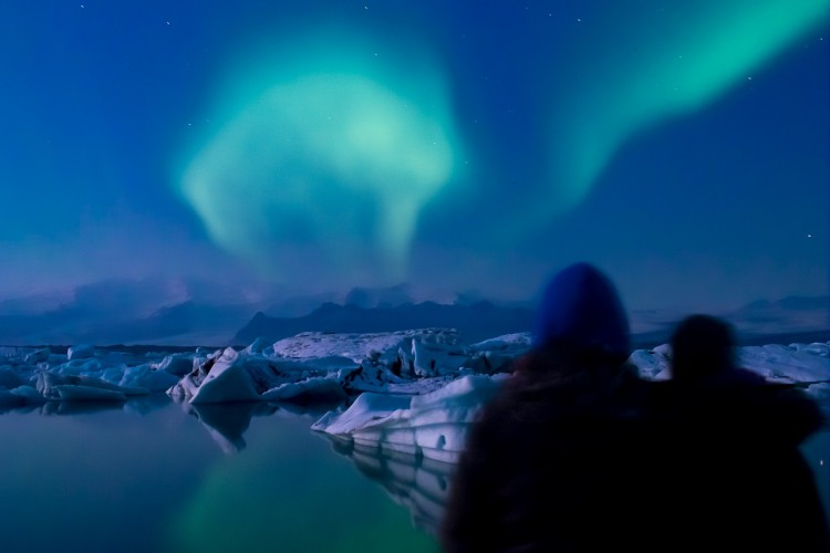 Nordic Visitor traveller Julien Vivenot spotted these northern lights over the Jökulsárlón glacier lagoon in November 2014.