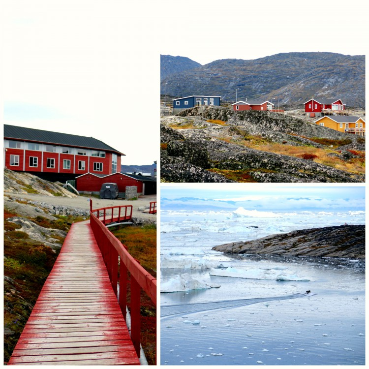 The colourfully rugged face of Ilulissat, Solveig and Ævar's home base for 3 nights.