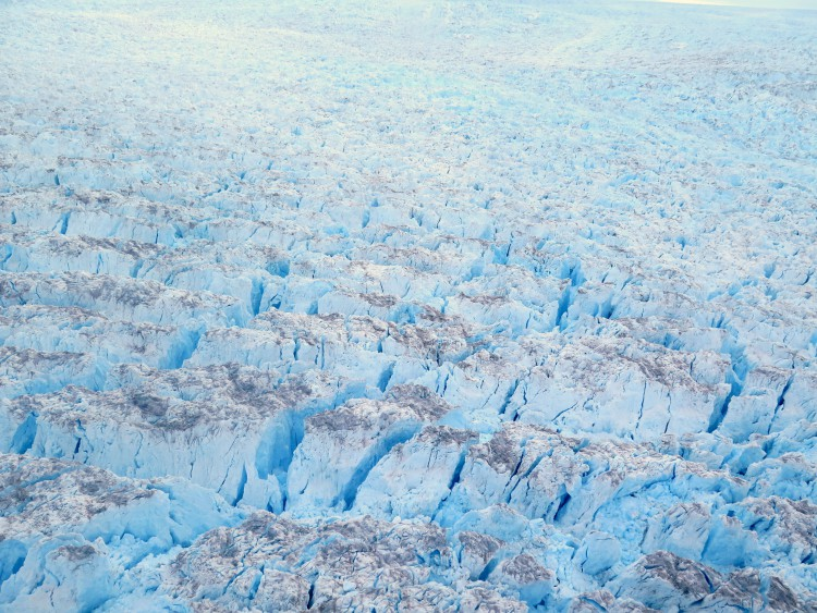 The incredible expanse and crevasses of the Eqi glacier.
