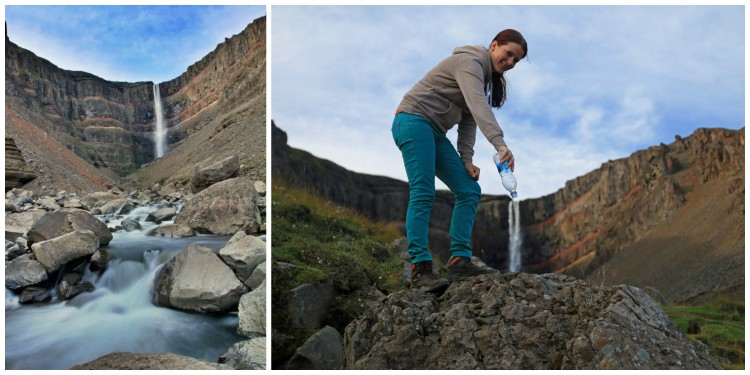 The stunning Hengifoss, in the country's east, was a favourite of Carston and Eva, who stopped for some fun and creative photos at the site.