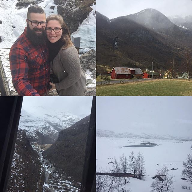 Danielle and Daniel traded in the spring-like temperatures of New Jersey for a decidedly frostier scene in Norway.