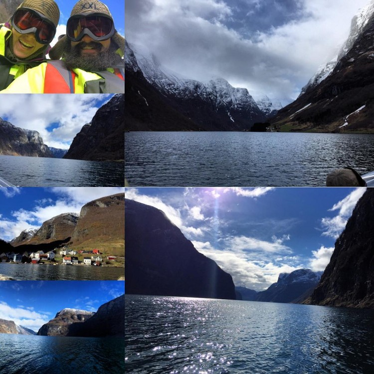 Danielle's Instagram posts of her and Daniel's ferry crossings in Norway's famed fjords make us wish we were there.