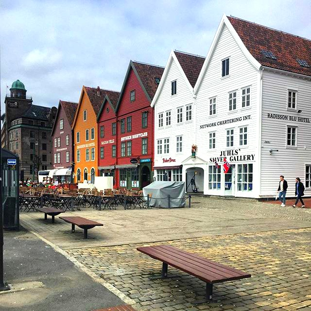 The Hanseatic architecture of Bergen is always photogenic!