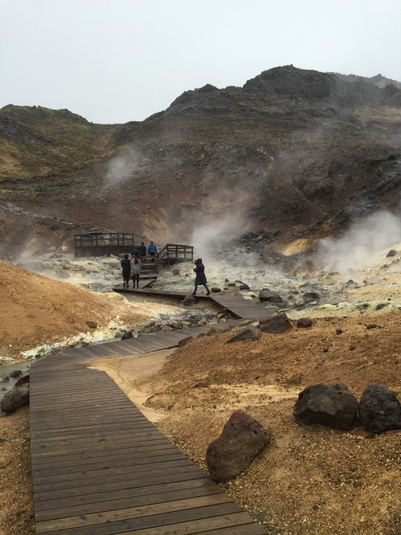The Seltún geothermal area is an attraction for all the senses... dazzling to look at, with a pungent scent of sulfur.