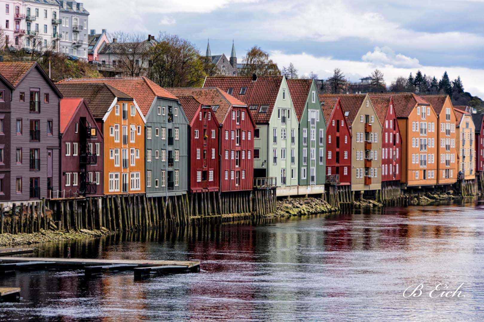 Trondheim old wharf, Norway ⒸBetty Eich 2016