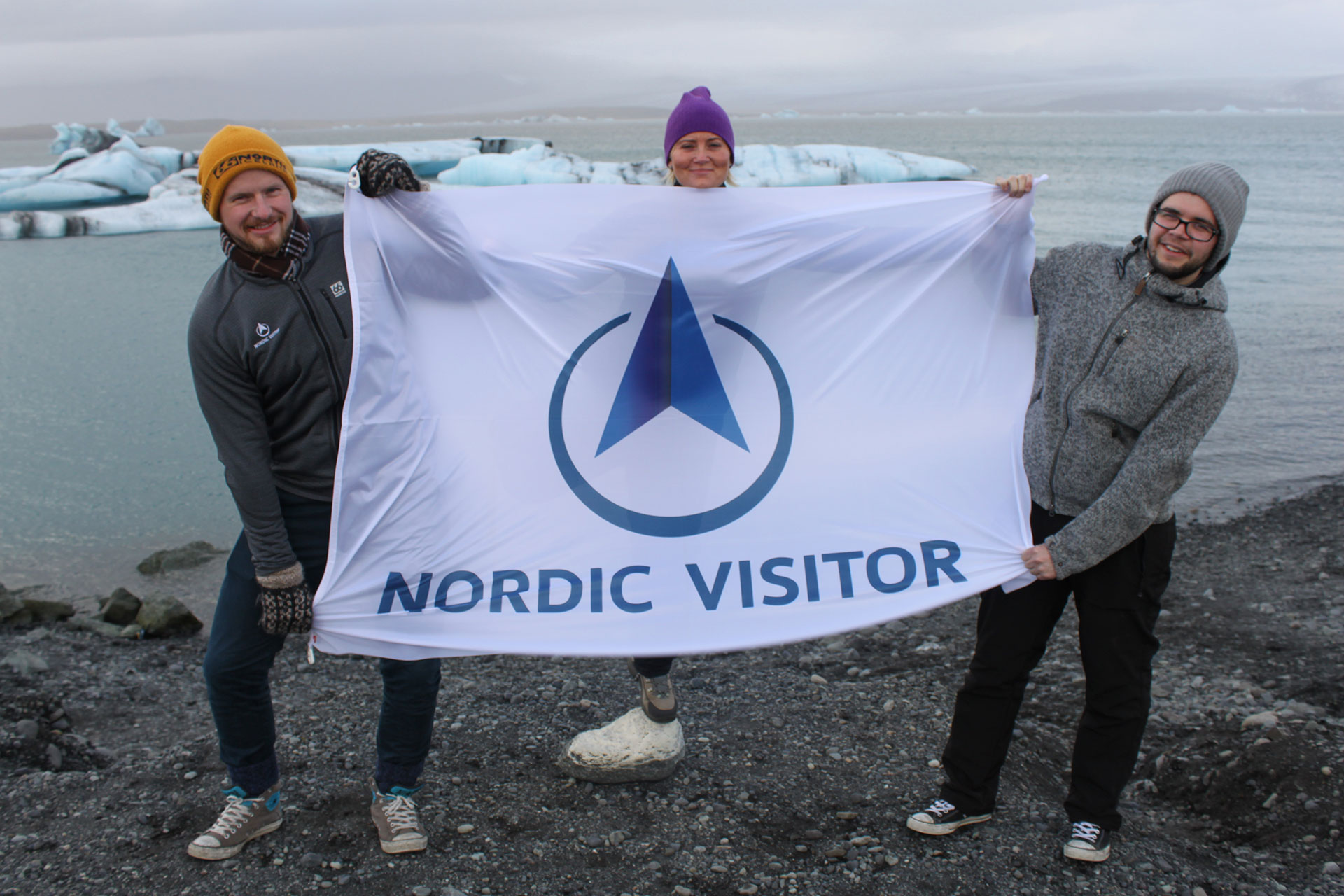 Nordic Visitor at Jökulsárlón