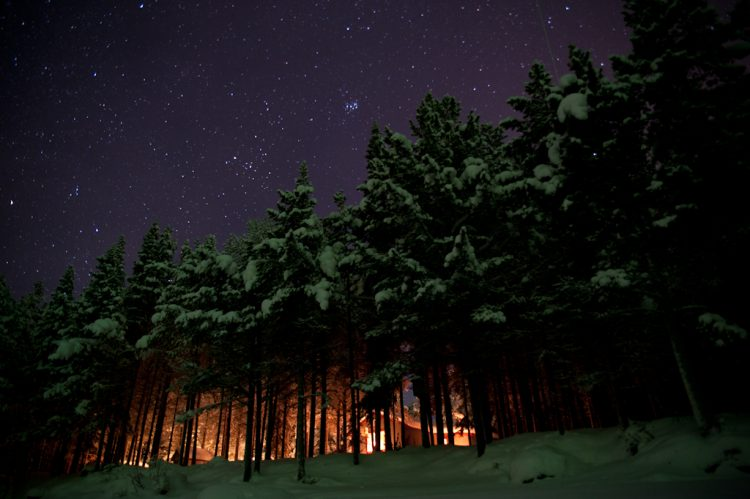 Starry sky over Lapland