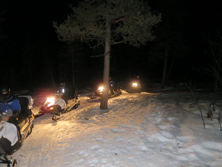Northern Lights Snowmobile Tour