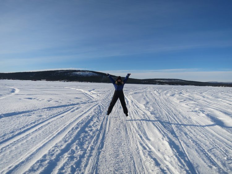Snowy plains of Lapland