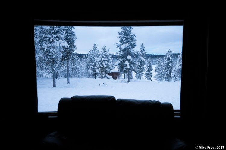 View from accommodation in Kiruna, Sweden