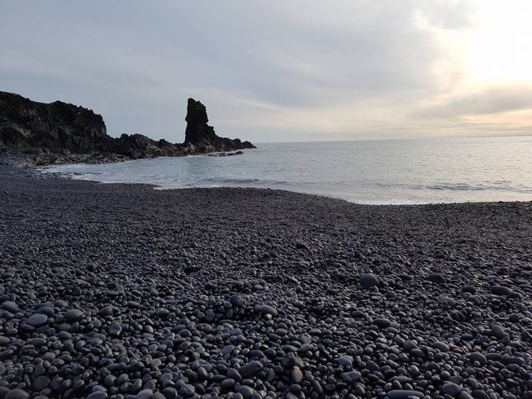 The rocky Djúpalónssandur beach in West Iceland