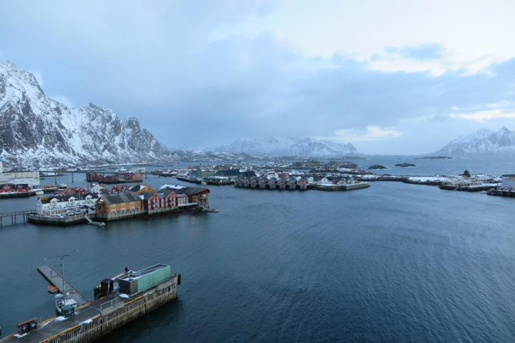 View over Svolvær, Lofoten in northern Norway