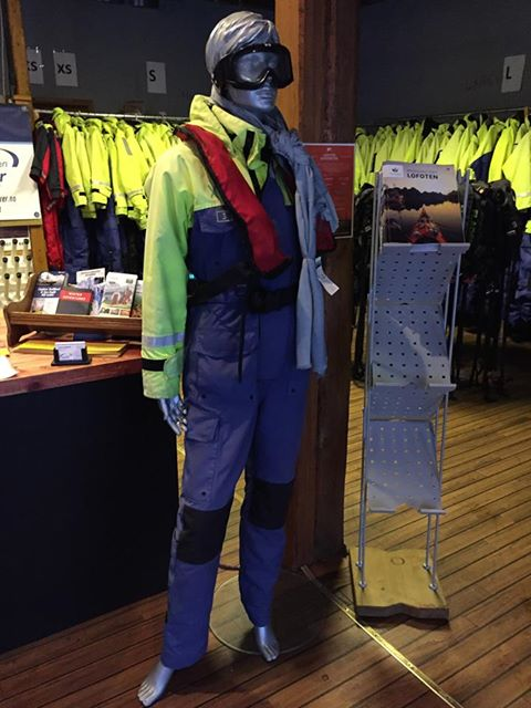 RIB boat thermal suit in Lofoten, Norway