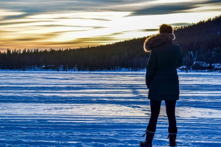 Amy Charles in Lapland