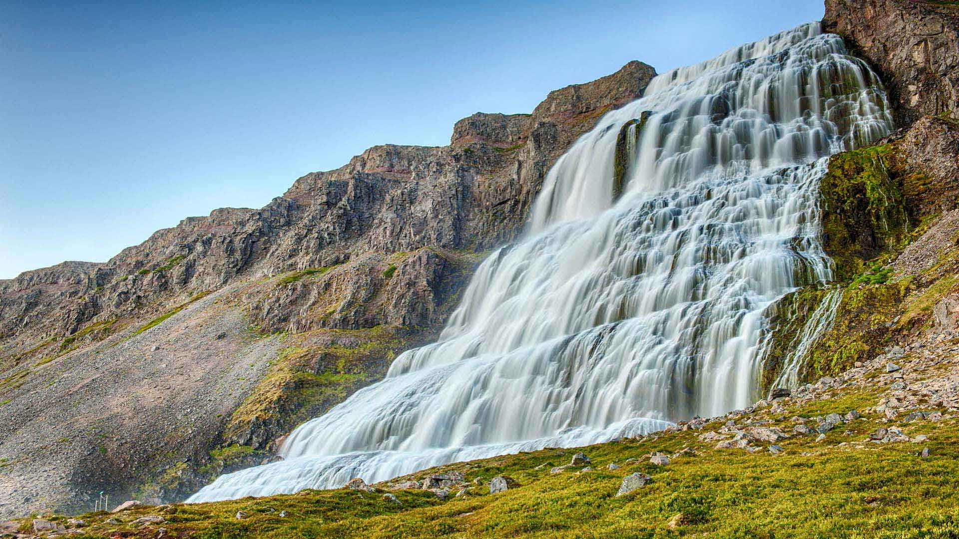 Dynjandi waterfall in Iceland's Westfjords region