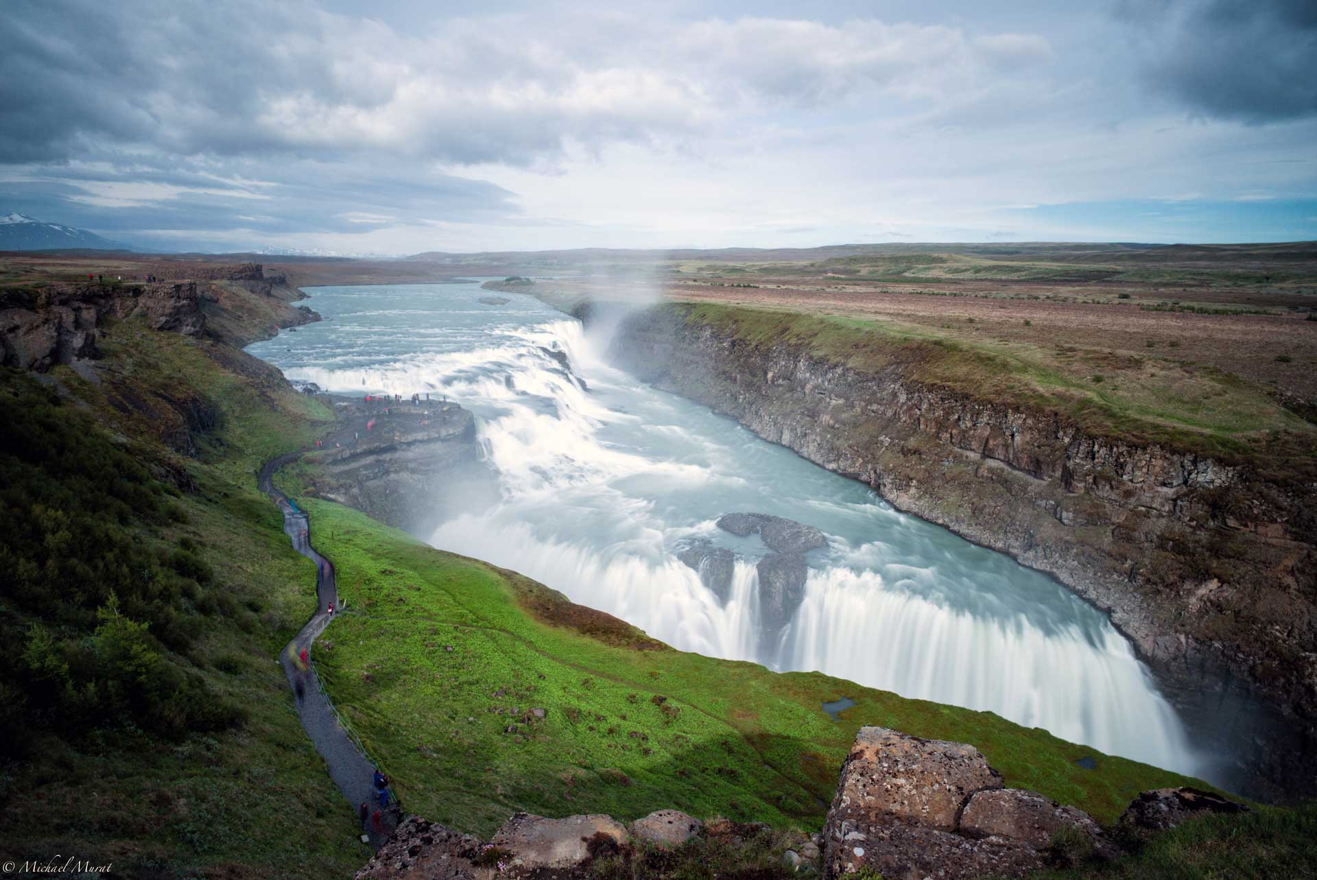 Gullfoss waterfall in the Golden Circle area of South Iceland