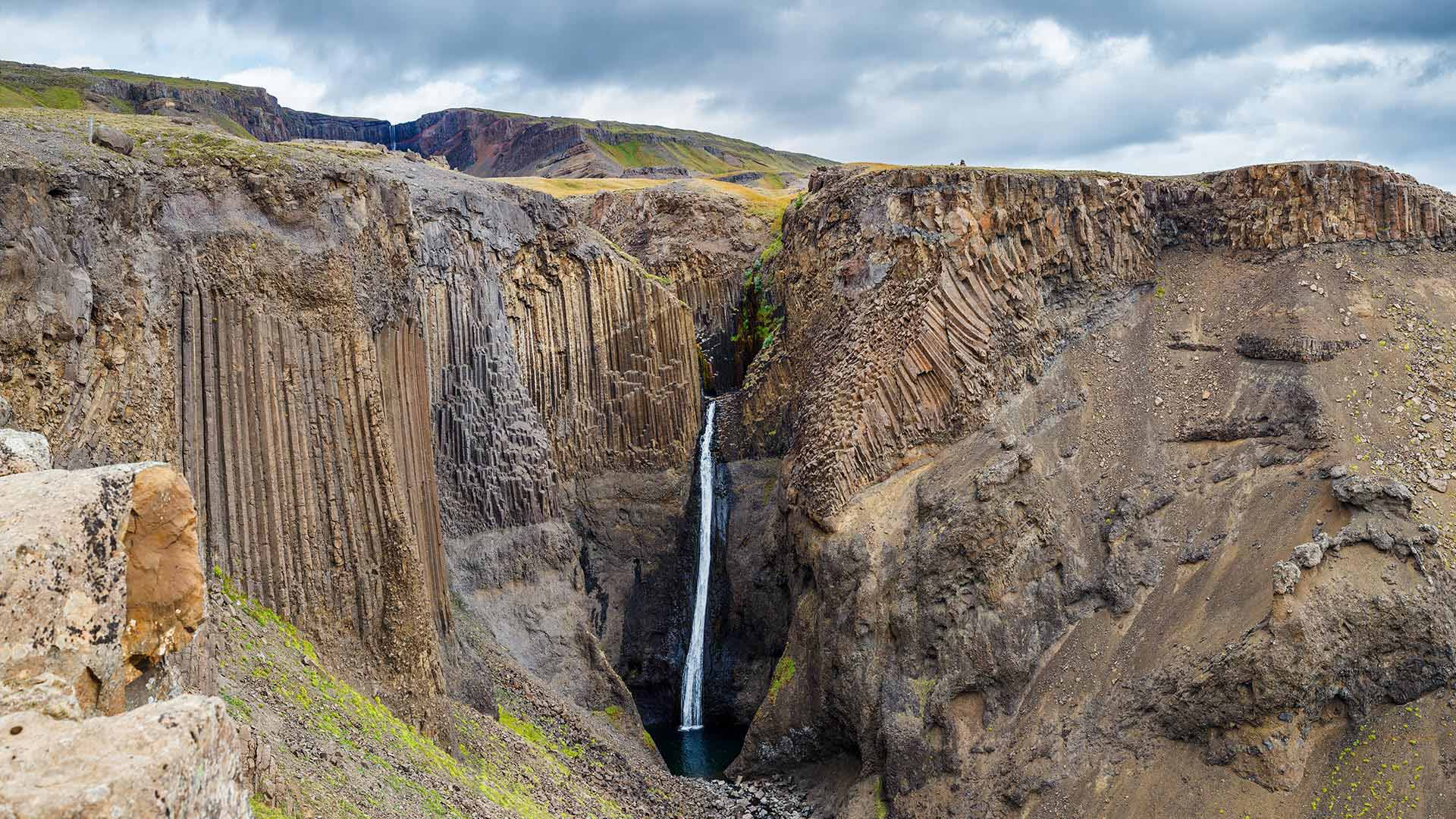 Hengifoss waterfall in East Iceland