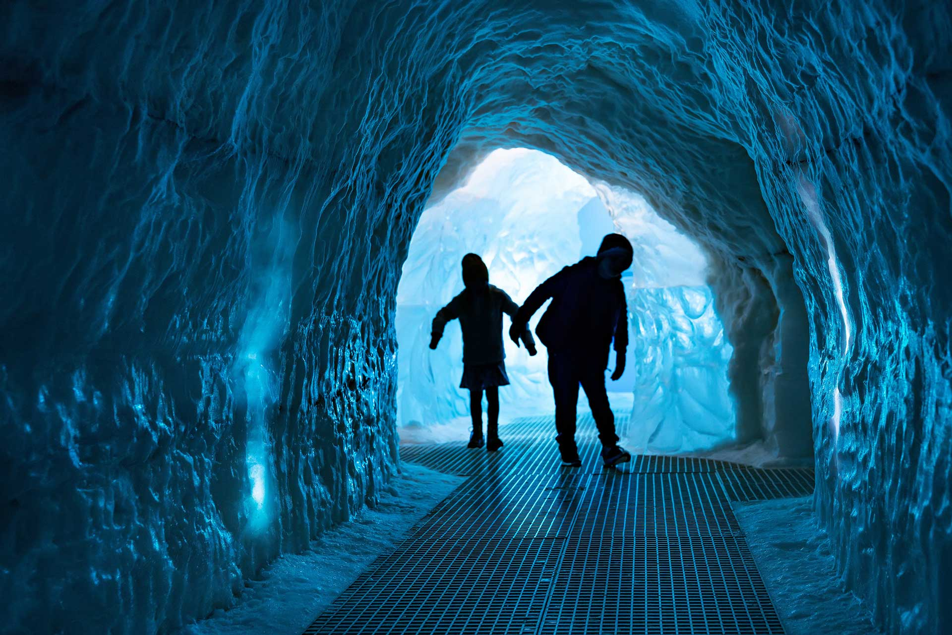 The replica ice cave at the Perlan Museum in Reykjavík