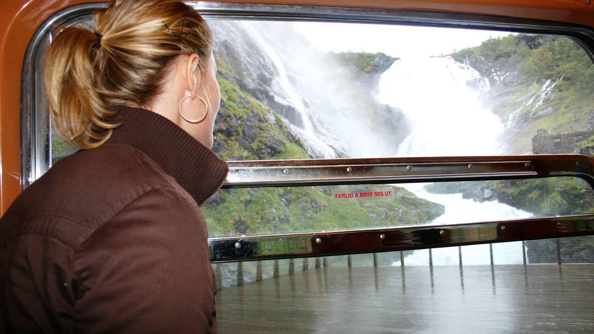 Out of the window of Flam Railway, Norway