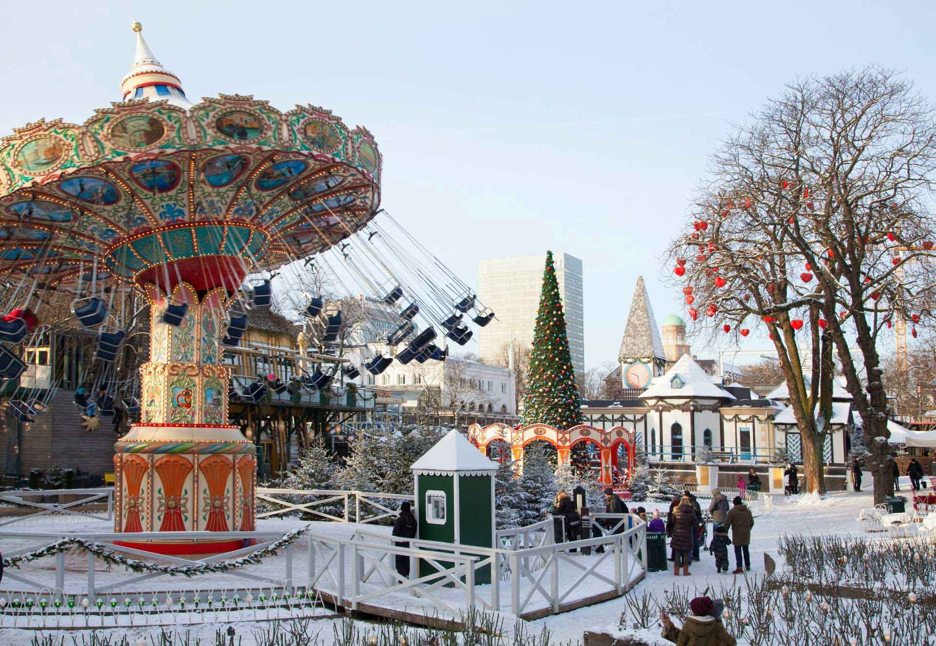 tivoli gardens under the snow