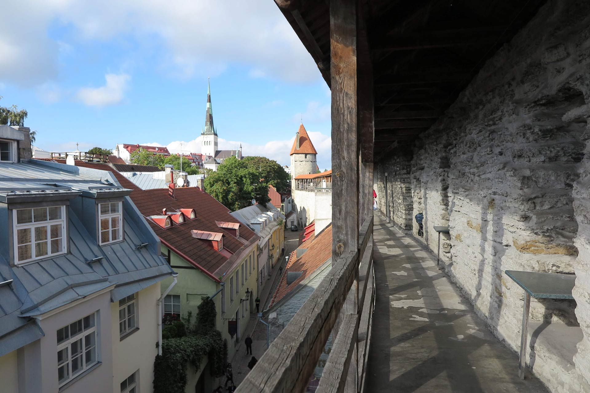 View from the wall in Old Town of Tallinn
