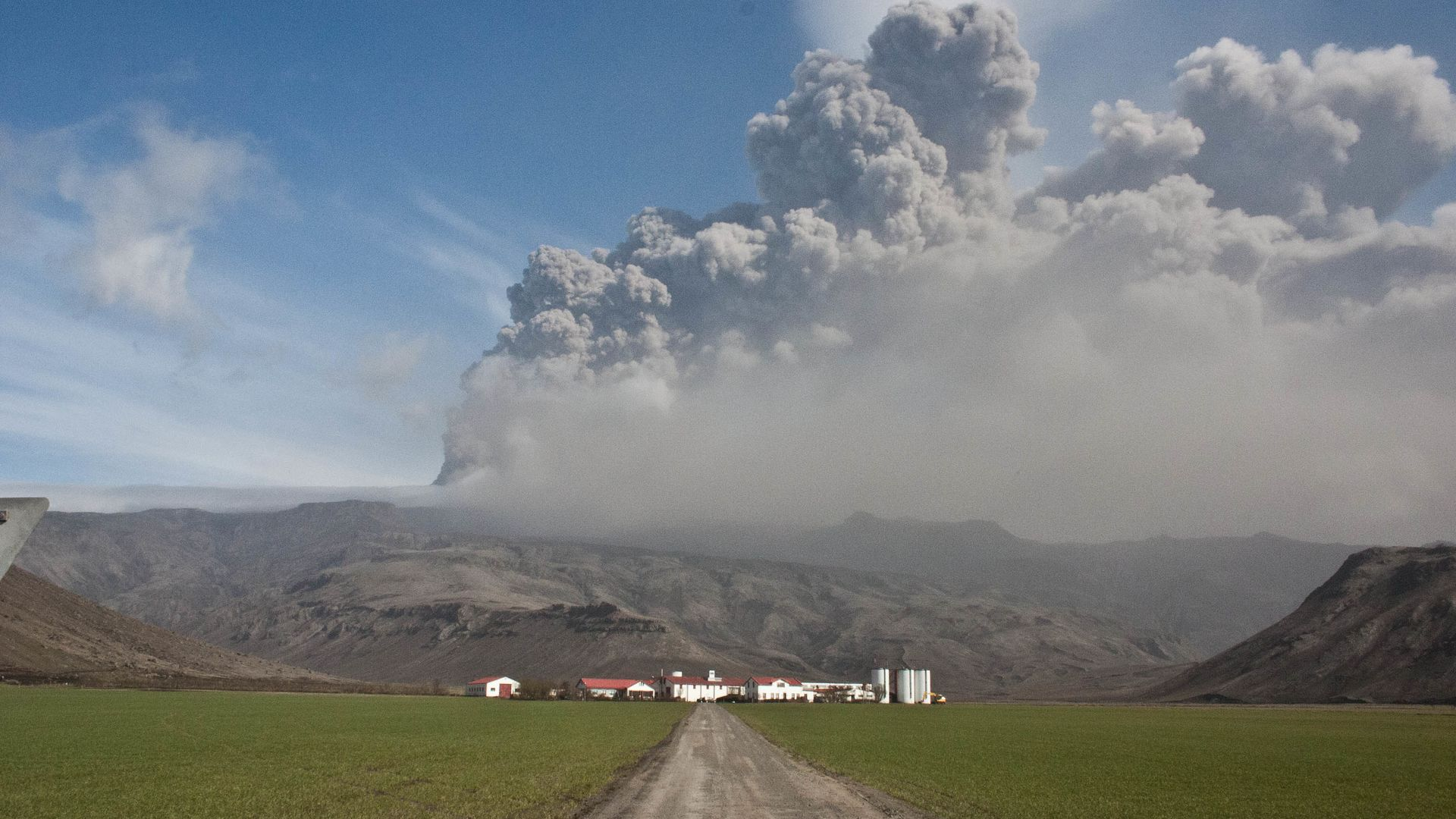 Ash cloud from the eruption at Eyjafjallajökull