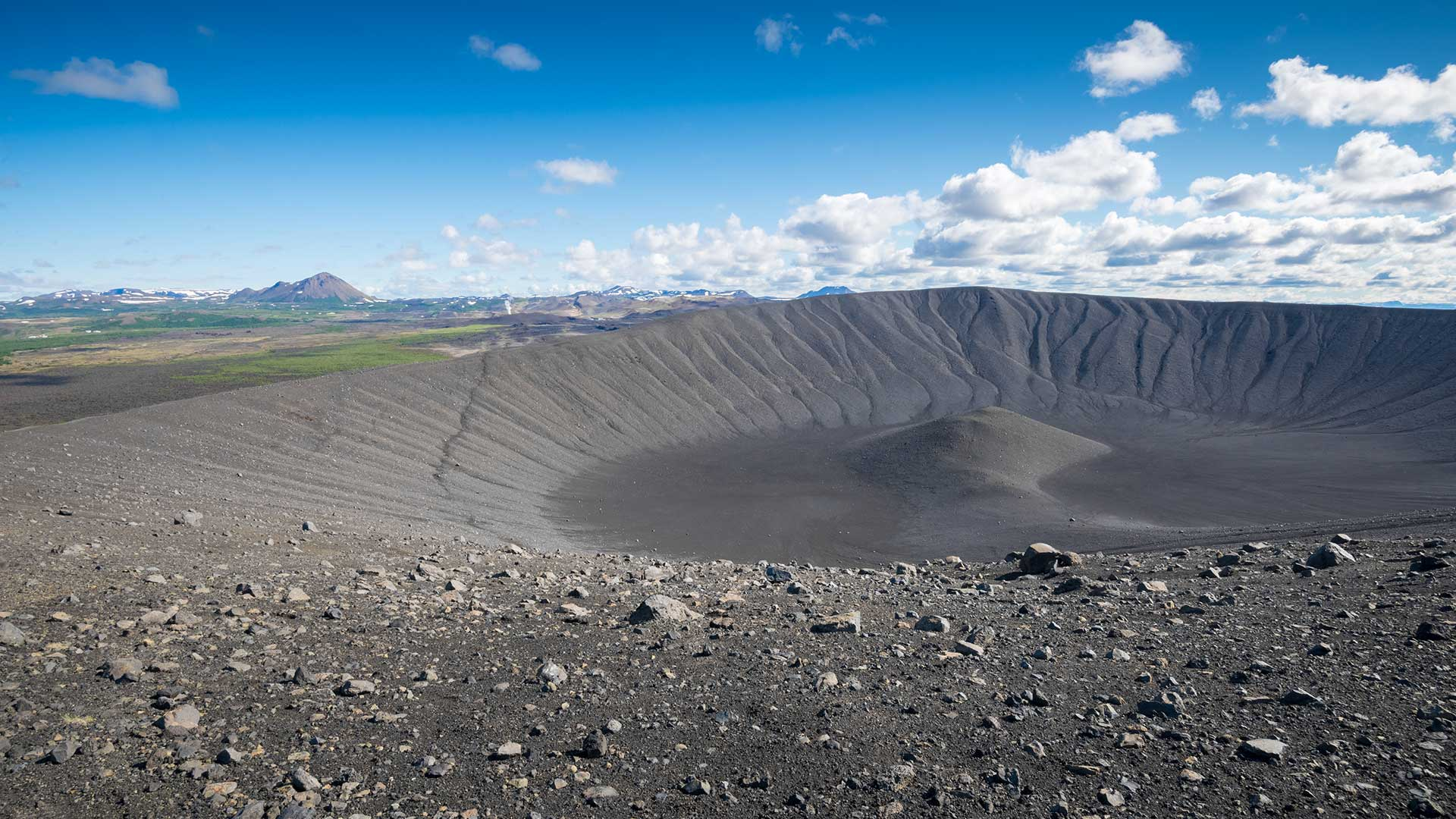 Hverfell crater in North Iceland
