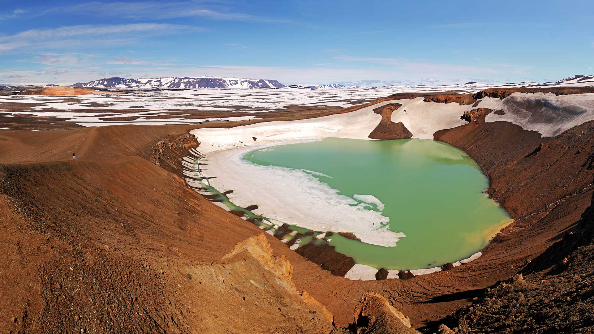 The Víti crater lake at Krafla in North Iceland