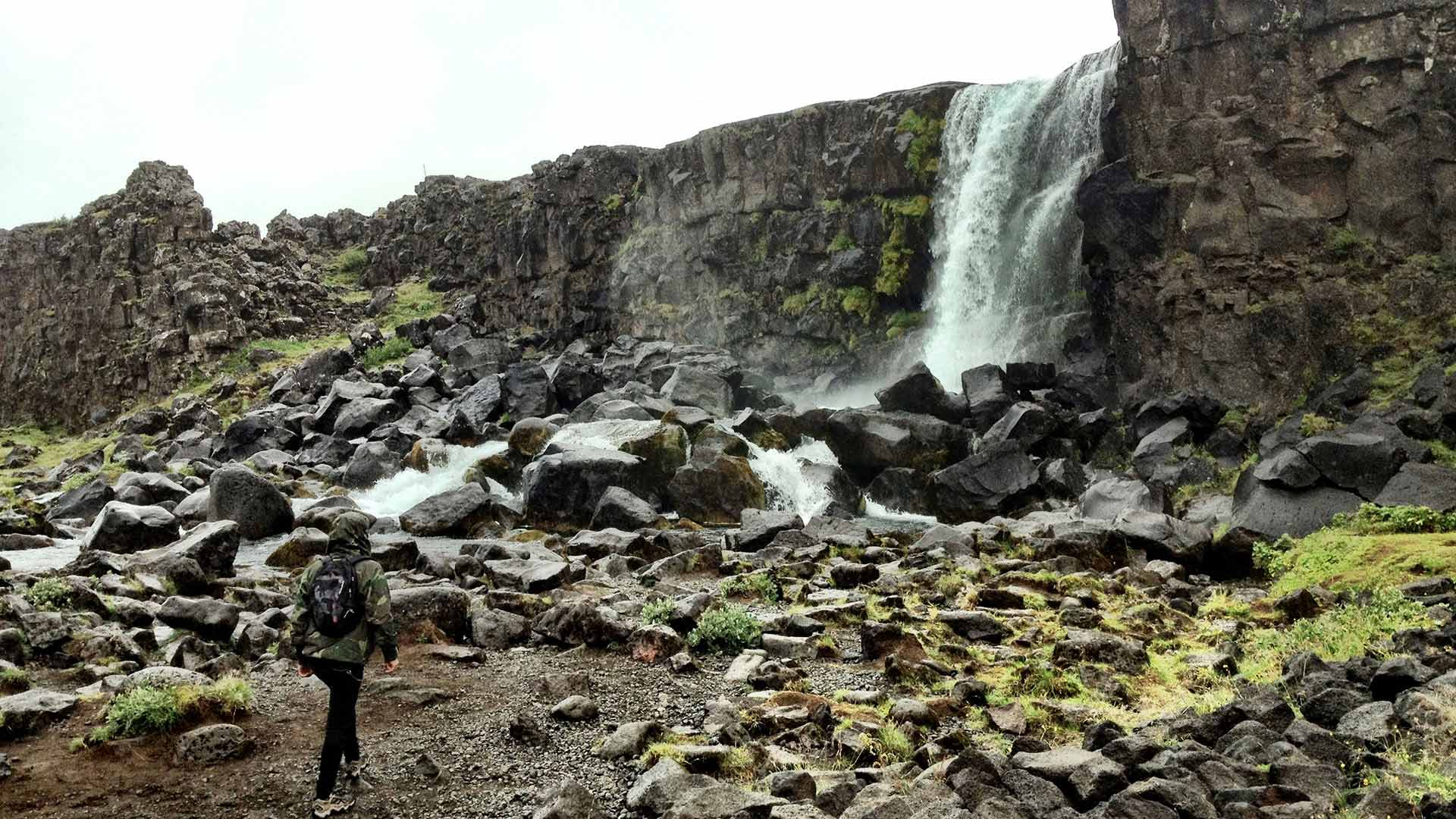 Thingvellir waterfall, Iceland