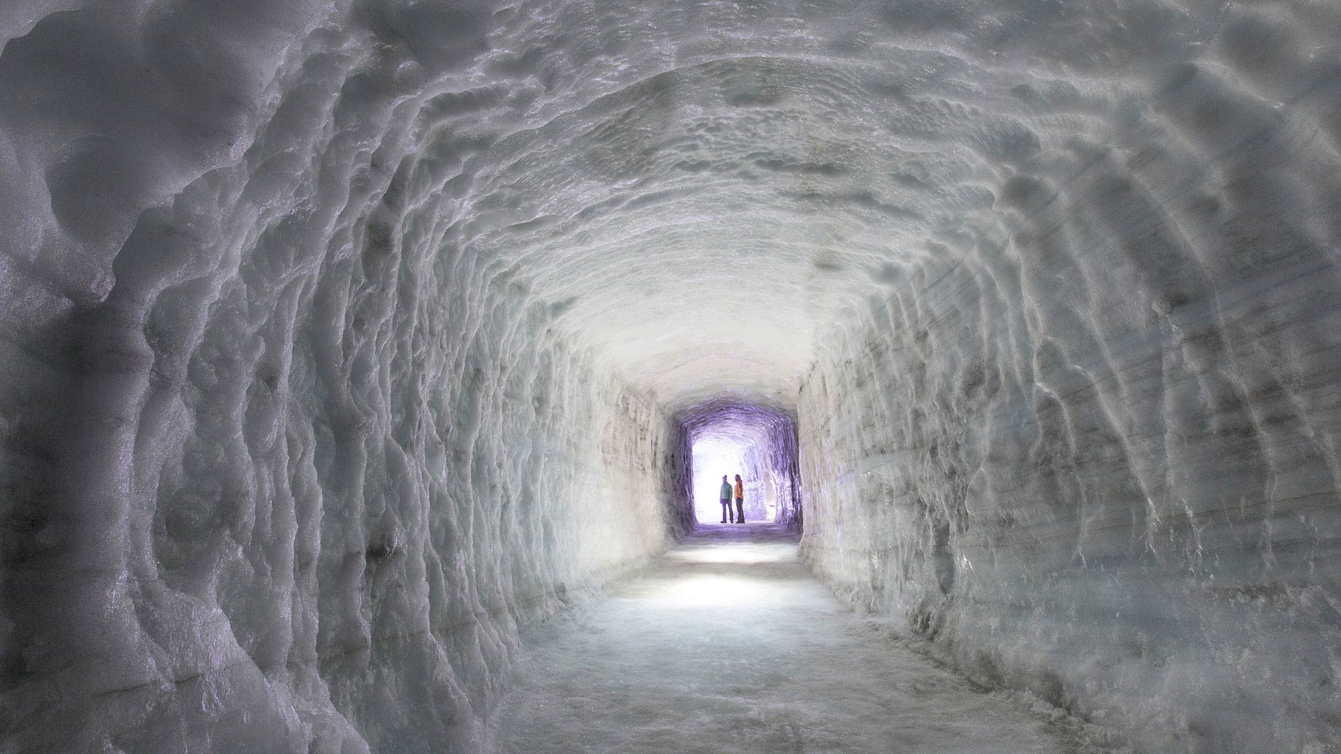 The glacier tunnels