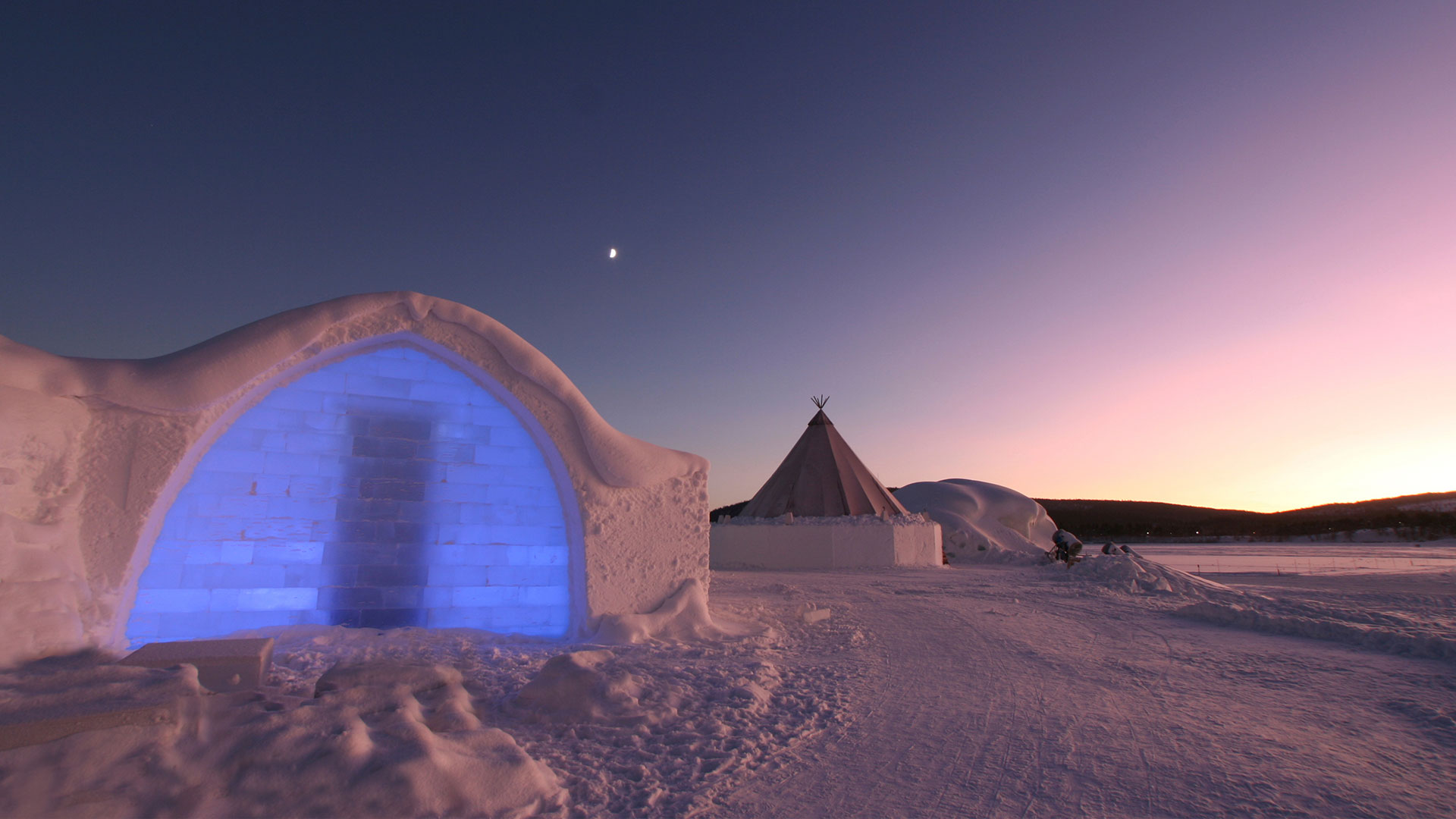 ICEHOTEL near Kiruna, Swedish Lapland