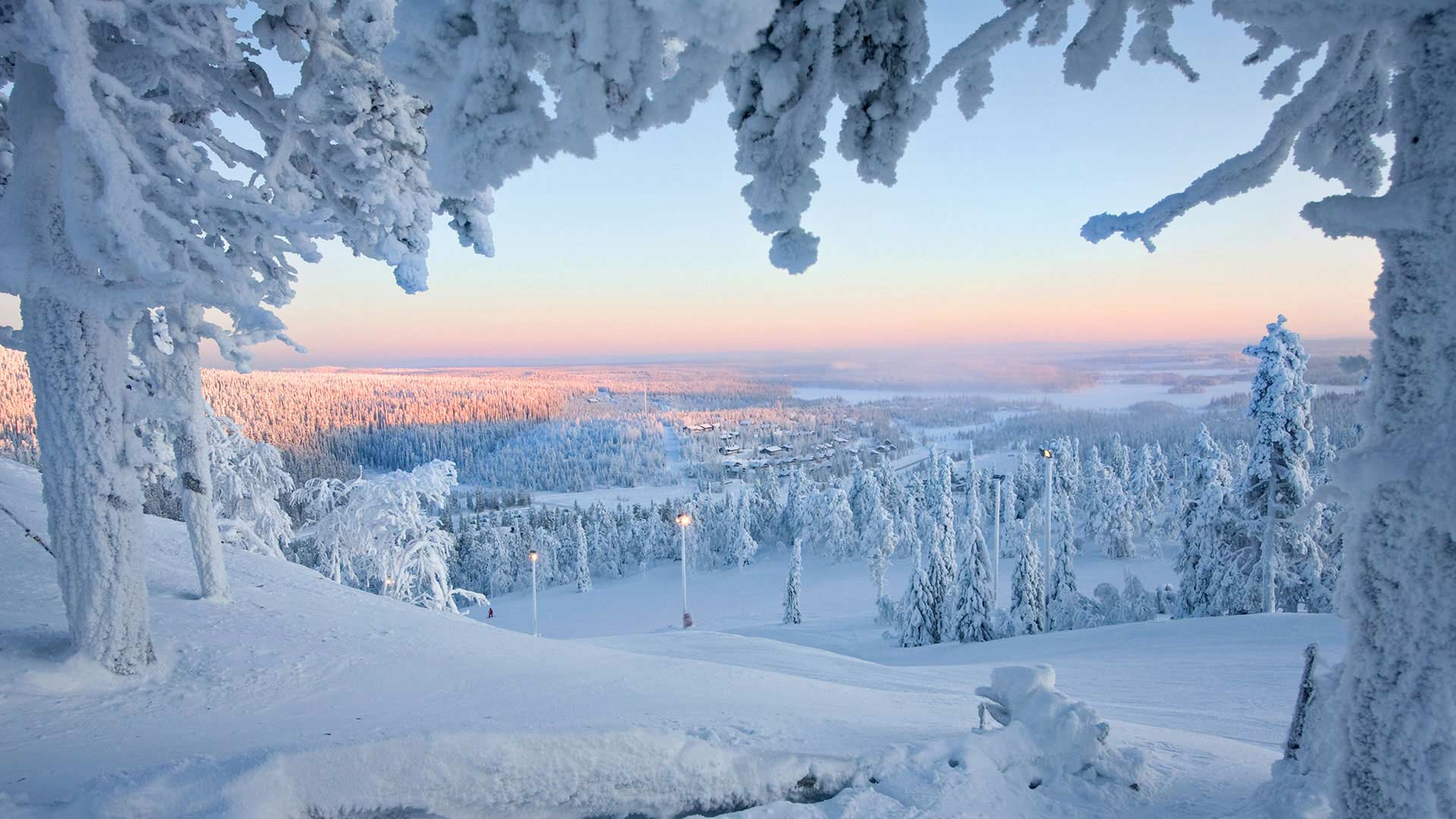 Rukatunturi in winter, Finnish Lapland