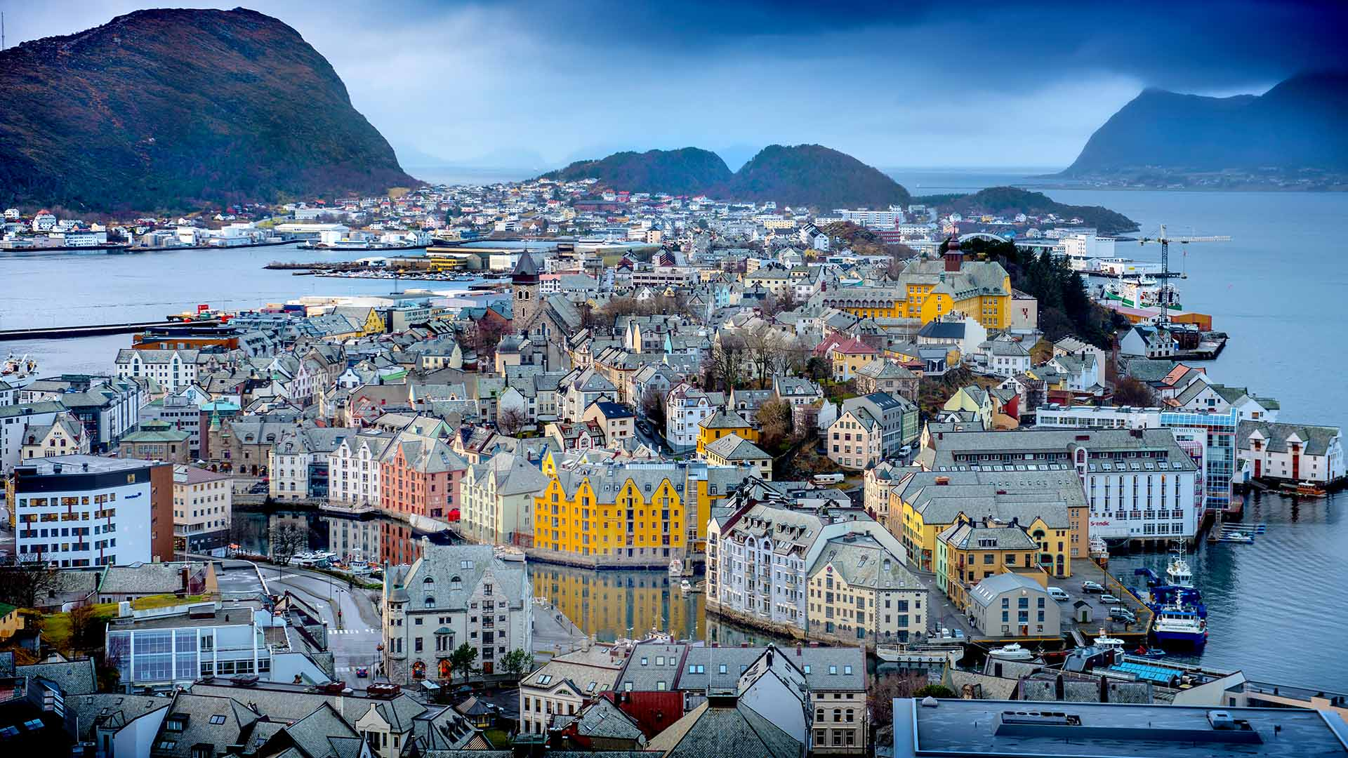 Alesund from Viewpoint