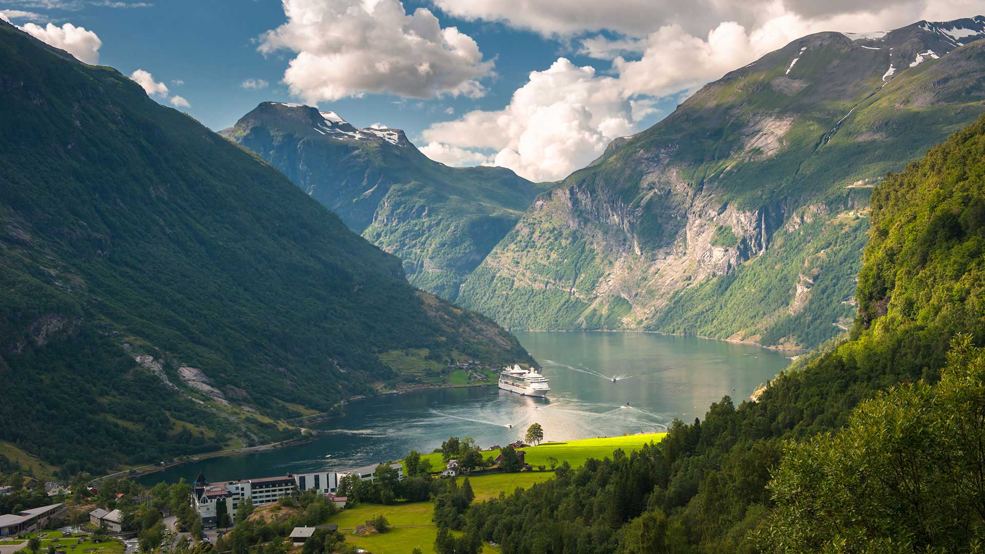 view of geirangerfjord