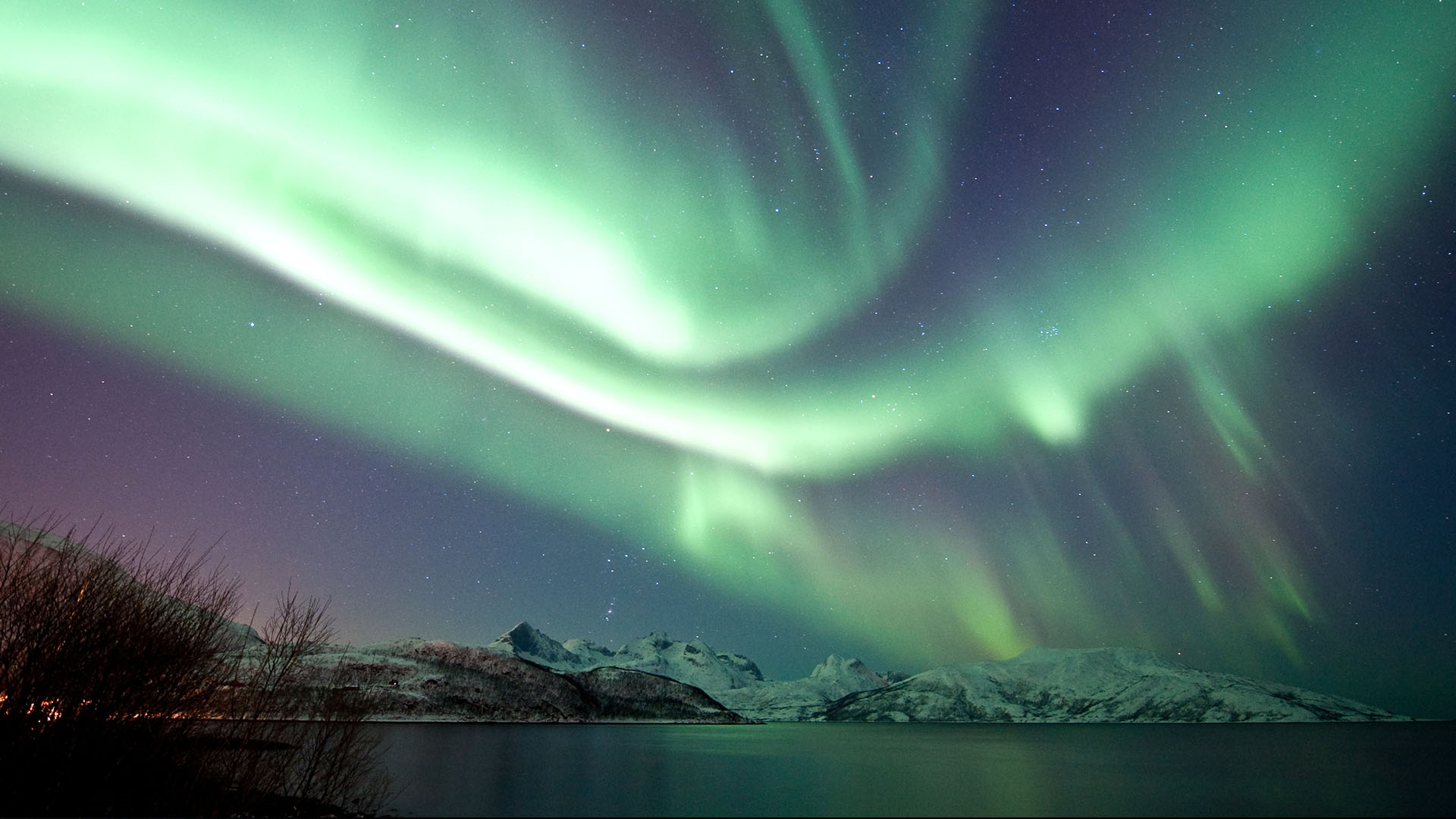 northern lights above tromso