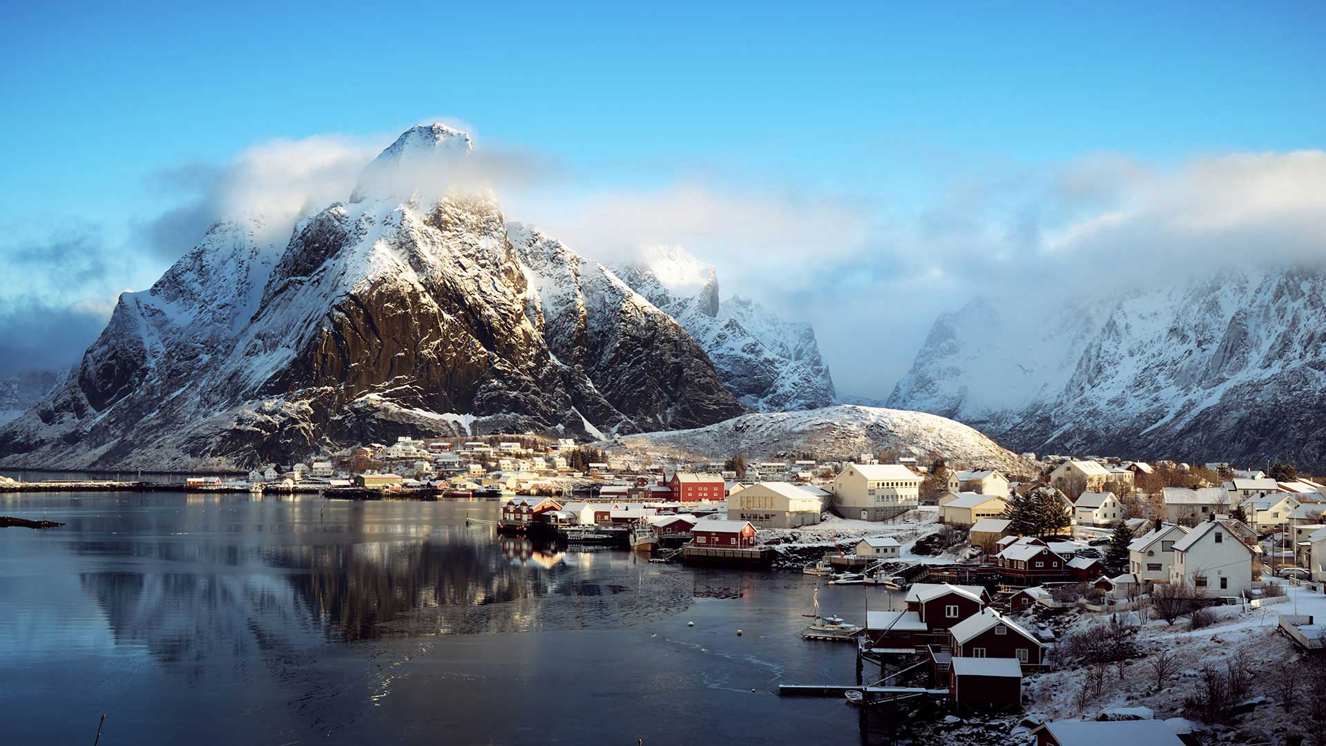 The village of Reine in Norway's Lofoten Islands
